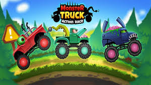 monster truck video game play monster trucks action race tiny lab kids android gameplay