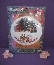 bucilla tree skirt cross stitch kits ebay