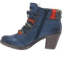 womens navy boots uk cool rieker navy caledonia womens lace up ankle boots shoes