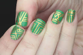 art deco nails by craftysethir on deviantart art deco nail art