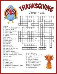 this thanksgiving themed crossword puzzle is for elementary