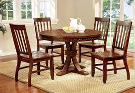 Wood Dining Room Table Sets Amazon Com Furniture Of America Castile Transitional Round