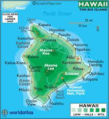 map of hawaii cities hawaii big island map and map of big island hawaii