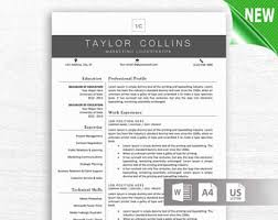 Educational Resume Template Modern Resume Template For Word 1 3 Page Resume Cover