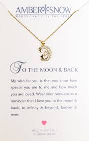 sterling silver necklace to the moon and back moon