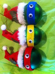 austin and my version of the ninja turtle ornaments tmnt