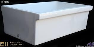 whq530 single bowl fireclay 30 u0027 u0027 farmhouse apron kitchen sink