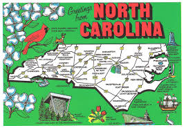 North Carolina travel steamer images North carolina postcards 4x6 postcard north carolina map art jpg