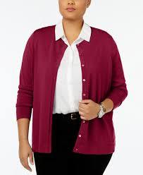 august silk plus size silk blend cardigan sweaters plus sizes