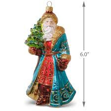 nostalgic santa blown glass ornament specialty ornaments hallmark