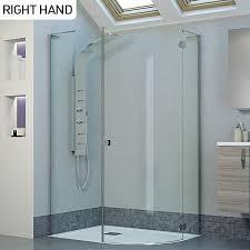 800 Shower Door Moods Reflexion 8 1200 X 800 Frameless Hinged Offset Quadrant