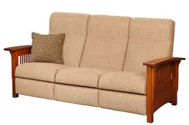 mission style reclining sofa town u0026 country furniture