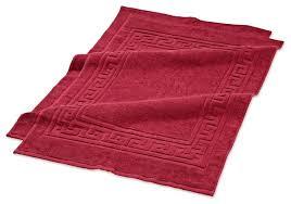 Burgundy Bathroom Rugs Superior Egyptian Cotton 2pc Bath Mat Set Traditional Bath