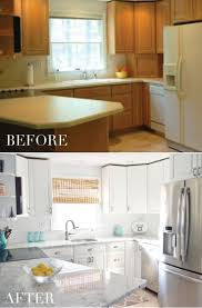 painting cabinets white the reveal of our diy kitchen cabinet
