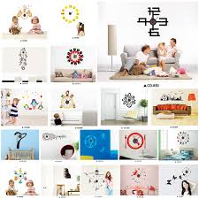 bn home diy fashion wall clock decor wall decal sticker real clock image is loading bn home diy fashion wall clock decor wall