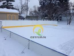 Backyard Hockey Rink Kit by Synthetic Ice Hockey Training Sheet Artificial Rink And Barrier