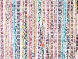Tapis Salon Multicolore by Tapis Design Tapis Orientale 140x200 Cm Coton Multicolore