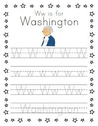 3 simple tracing worksheets for presidents u0027 day