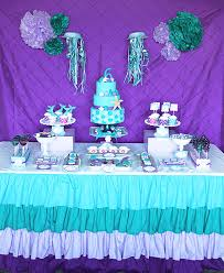 Mermaid Decorations For Party Ariel Little Mermaid Birthday Party Mermaid Birthday Mermaid
