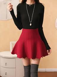 high waisted skirts high waist skirt mid thigh solid