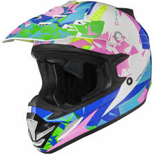 pink motocross helmets shox mx 1 paradox blue pink yellow motocross helmet mx quad off