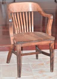 solid oak vintage banker u0027s chair excellent condition 22 5