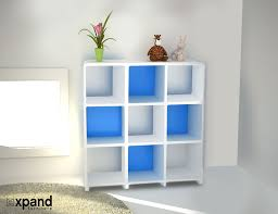 Shallow White Bookcase by Storage Bookcase With Modular Design Expand Furniture