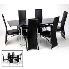 Black Glass Extending Dining Table 6 Chairs Top 20 Black Glass Extending Dining Tables 6 Chairs Dining Room