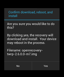 install a custom recovery on a rooted android device