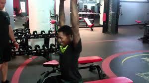 brandon jennings overhead bench squat w 45lb plate youtube
