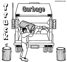 garbage truck coloring pages throughout truck coloring pages