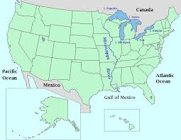 map with oceans map of usa with oceans labeled at maps