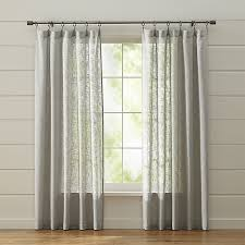 White Grey Curtains Lindstrom Grey Curtains Crate And Barrel