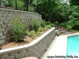 Retaining Wall Design Ideas by Small Backyard Retaining Wall Amys Office