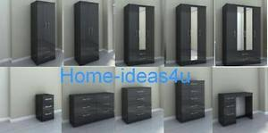 Black High Gloss Bedroom Furniture by New Birlea Lynx Black High Gloss Bedroom Furniture Stunning Range