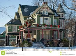 Christmas House by Victorian Christmas House Royalty Free Stock Image Image 27210406