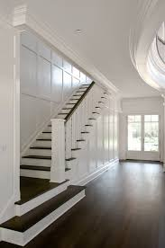 Stairway Wall Ideas by Love The Dark Wood With White East Hampton House By Carmina Roth