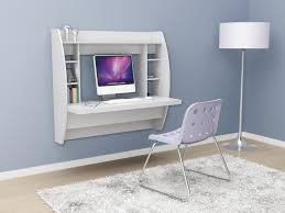 wall mounted desk amazon prepac tall wall hanging desk with storage in white beyond stores