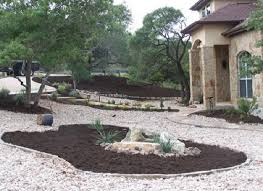 Rock Backyard Landscaping Ideas Great Rock Backyard Landscaping Ideas Image Of River Rock