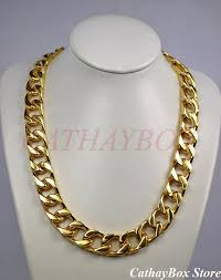 long chunky chain necklace images Men 39 s chunky solid thick all 18kgp gold finish stainless steel jpg