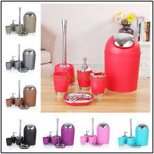 Red Bathroom Accessories Sets by Bathroom Accessories Ebay
