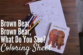 brown bear brown bear coloring sheet u2013 montessori