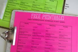 printable daily schedule printable homeschool schedule teach beside me