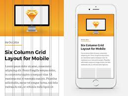 6 column grid for iphone 6 and 7 sketch freebie download free