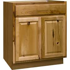 home depot kitchen base cabinets reviews for hton bay hton assembled 30x34 5x24 in sink base kitchen cabinet in hickory ksb30 nhk the home depot