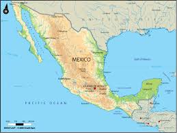 jamaica physical map large physical map of mexico