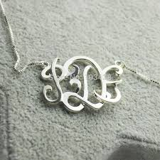 Monogrammed Sterling Silver Necklace Necklace Police Picture More Detailed Picture About Custom 3d