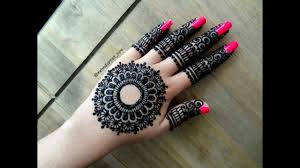 beautiful simple easy gulf mandala henna mehndi