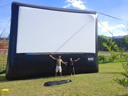 the outdoor movie screen arrives celestial cinemas