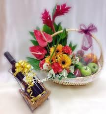 fruit flowers baskets flowers angel singapore florist send the best bouquets